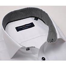 481b48ce7f8 Casa Moda Modern Fit Premium – luxusní bílá košile se strukturou a  černo-šedým vnitřním