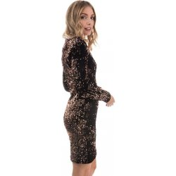 6a23ecb0093b Only šaty womens Confidence Sequin Bodycon dress copper od 589 Kč ...