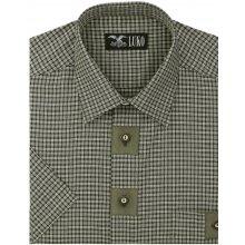 75362310a61e Luko pánská outdoorová myslivecká košile 034230 tmavě zelené káro krátký  rukáv regular fit