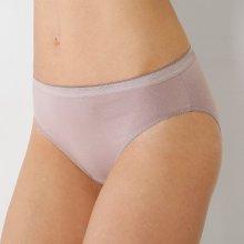 Blancheporte Kalhotky z pružné a prodyšné bavlny, midi, sada 3 ks bronzová+pudrová+lila