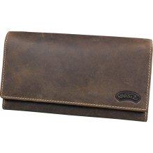 Nivasaža N21 HNT BR dámská kožená peněženka hnědá