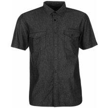 Pierre Cardin Short Sleeve Denim Shirt Mens Indigo