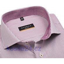 Eterna Slim Fit košile s vínově červeným proužkem s vnitřním límcem a  manžetou fd4aeb50cd