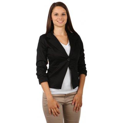 TopMode stylové sako s 3/4 rukávy černá