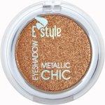 E STYLE metalické oční stíny 9 COOPER Eye Shadow METALLIC CHIC 6 g