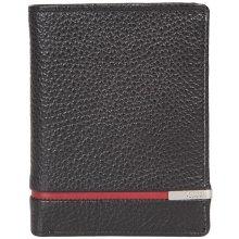 GIUDI pánská černočervená kožená peněženka 7364