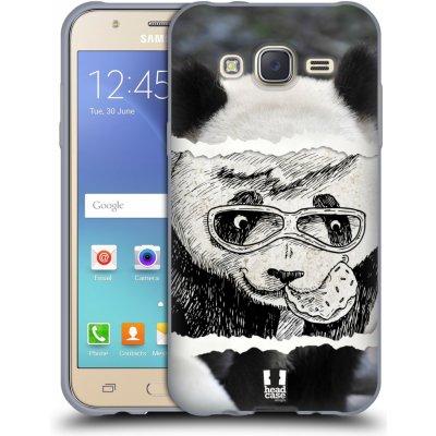 Pouzdro HEAD CASE Samsung Galaxy J5, J500, (J5 DUOS) vzor zvířata koláž roztomilá panda
