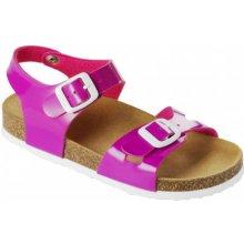Scholl SMYLEY KID dětské zdravotní pantofle s páskem růžové