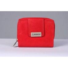 Loranzo Dámská kožená peněženka červená 30536eb849