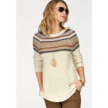 fe2e209d75f Tamaris Tamaris Pletený pulovr přírodní-modrá-hnědá-barva zlata-světle modrá
