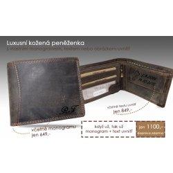 Luxusní peněženka s vaším monogramem iniciály textem obrázkem z pravé kůže b73365d54d