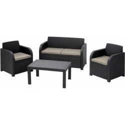 Zahradní židle a křeslo CAROLINA hnědý