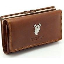 Harvey Miller dámská kožená peněženka hnědá F236D156