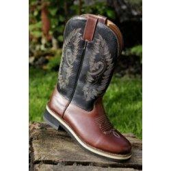 49c40b11c HKM Westernové boty Softy cow kožené tmavě hnědé od 2 494 Kč ...
