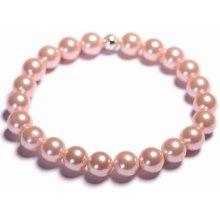 Lavaliere dámský perlový náramek růžové shell perly 13401