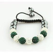 Fashion Icon náramek Shamballa hematit korálky a krystalky NM0024-1210