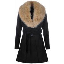 Golddigga Fur Collared Jacket dámská černá