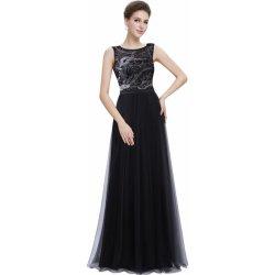 35c2c19254d6 Dlouhé plesové šaty s tylovou sukní černá