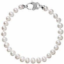 Evolution Group perlový náramek z pravých říčních perel bílý 23002.3