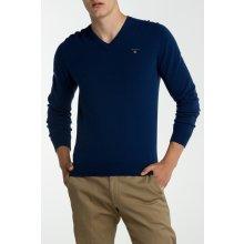 Gant Pánský svetr O3. COLOR FRIDAY CASH BLEND V-NECK modrá