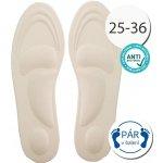 SISI NO.80509-4-Beige Antibakteriální vložky do bot anatomické béžová 4200988632