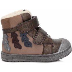 Ponte 20 Dívčí kožené boty s listy - hnědé od 649 Kč - Heureka.cz 90d856dac6
