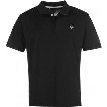 Dunlop Plain Polo Shirt Mens Black