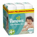 Pampers Active Baby-Dry 4 Maxi 8-14 kg 152 ks