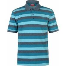 Slazenger Pique Polo Shirt Mens Teal Blue