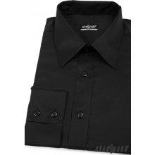 Avantgard pánská Košile Slim s dlouhý rukáv Černá 167-23 46f2ccfa8b