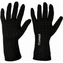 Craft Warm Wool podvlékací rukavice černá