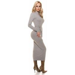 KouCla dámské dlouhé úpletové šaty s průstřihem šedá od 1 010 Kč ... 7ac5f4d2b1