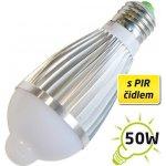 TIPA Žárovka LED A60 E27 7W s PIR bílá přírodní