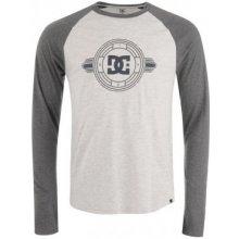 DC Raglan Long Sleeve T Shirt Mens Grey/Charcoal