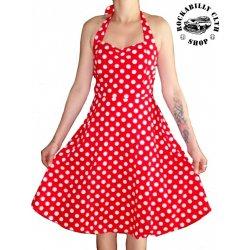 49dbe9feb136 Šaty Rockabilly Retro Pin Up Barbara Polka Dot red wht od 790 Kč ...
