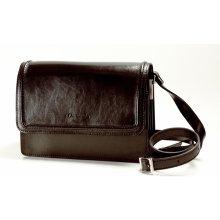 24ceac7e924 kožená kabelka s klopnou čokoládově hnědá M32518