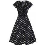 Lady V London šaty s bílými puntíky Hole černá 3a892f52c2