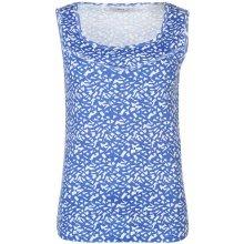 Full Circle Print Rib Vest Ladies Blue