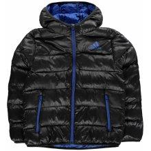 e1f84c54571 Adidas Padded Jacket Junior Boys Black Blue