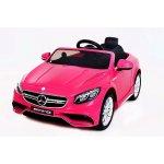 Beneo Elektrické autíčko Mercedes-Benz S63 AMG EVA kola odpružené 2,4 GHz dálkové ovládání 12V 2 X MOTOR Ružové