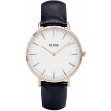 Cluse La Bohéme Rose Gold White/MIDNIGHT BLUE
