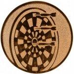 Pohary.com Emblém šipky bronz 25 mm