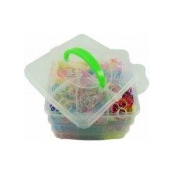 Set gumiček na výrobu náramků v krabičce 15 x 15 x 12