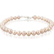Náramek Klenota perlový růžové perly sl033
