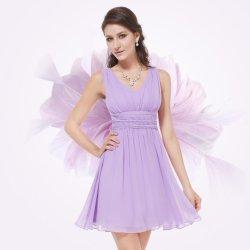 Krátké společenské šaty na svatbu promoce lila f56dabc4c6f
