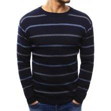 Modrý pruhovaný svetr (wx1022)