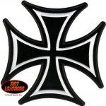 Velká zádová nášivka Maltézský kříž 20x20cm