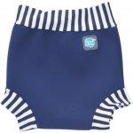 Happy Nappy - kojenecké plavky SplashAbout, modrobílé