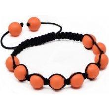 Náramek Shamballa s neonově oranžové perly Swarovski Elements BMB10.03