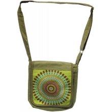 Thajsko taška přes rameno bavlna zelená mandala 69a6f3b273